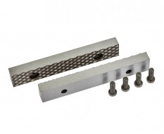 Set van 2 stuks 125 mm verwisselbare geharde bekken voor bankschroef 1627C incl. 4 schroeven
