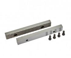 Set van 2 stuks 150 mm verwisselbare geharde bekken voor bankschroef 1628C incl. 4 schroeven