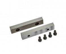 Set van 2 stuks 75 mm verwisselbare geharde bekken voor bankschroef 1636C incl. 4 schroeven