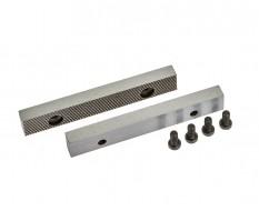 Set van 2 stuks 100 mm verwisselbare geharde bekken voor bankschroef 1637C incl. 4 schroeven