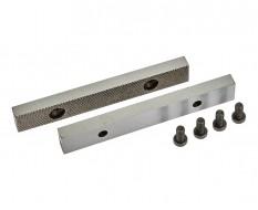 Set van 2 stuks 125 mm verwisselbare geharde bekken voor bankschroef 1630C incl. 4 schroeven