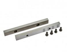 Set van 2 stuks 150 mm verwisselbare geharde bekken voor bankschroef 1634C incl. 4 schroeven