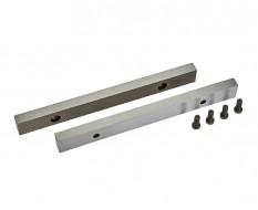 Set van 2 stuks 200 mm verwisselbare geharde bekken voor bankschroef 1635C incl. 4 schroeven