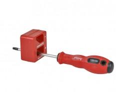 Schroevendraaier magnetiseren – de – magnetiseren - magnetisch maken. Rood - ABS