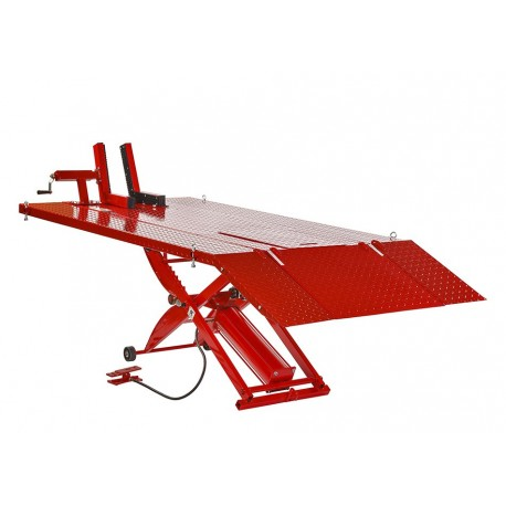 Extra brede heftafel motorfiets pneumatisch rood