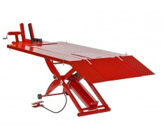 Extra brede en extra lange motorheftafel pneumatisch rood