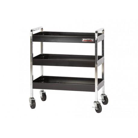 Werkplaatstrolley zwart 77 x 41 x 91 cm