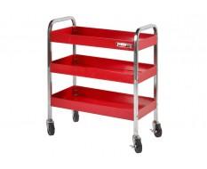 Werkplaatstrolley rood 77 x 41 x 91 cm