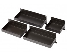 Set van 4 magnetische bakken - zwart