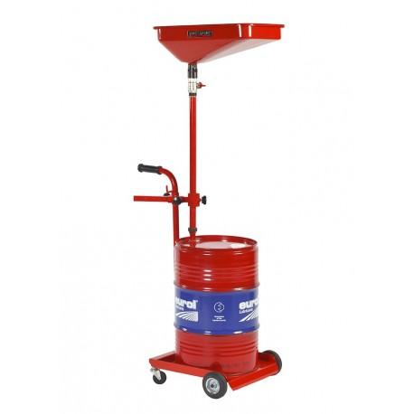 Olie opvangwagen voor 60 liter vaten