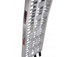 Aluminium oprijplaat 225 cm inklapbaar versterkt met dicht profiel