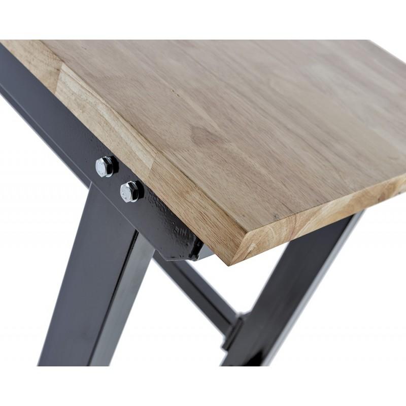 werkbank zwart 200 cm met hardhouten blad en gereedschapswagen powerplustools. Black Bedroom Furniture Sets. Home Design Ideas