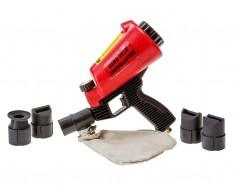 Zandstralen met handstraler met opvangzak - Mini zandstraler - Zandstraalpistool - Punt straler - Mobiel Straalpistool.