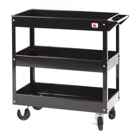 Werkplaatstrolley zwart 79 x 38 x 79 cm