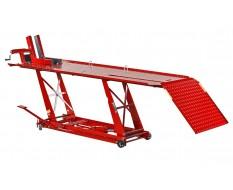 Brede heftafel voor motor hydraulisch - heftafel motorfiets - heftafel hydraulisch - rood - hydraulische motorheftafel