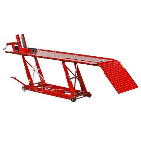 Extra brede heftafel voor motor hydraulisch rood