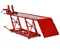 Heftafel motor - heftafel motorfiets - heftafel hydraulisch rood - hydraulische motorheftafel.