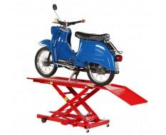 Heftafel bromfiets en scooter - heftafel brommer - heftafel hydraulisch kleur rood