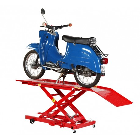 Heftafel bromfiets en scooter hydraulisch rood