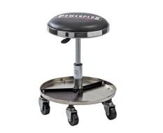 Werkplaatskruk, verrijdbare werkplaatsstoel, 5 wielen en cap. 125 kg.