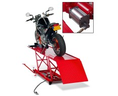Heftafel voor motorfiets hydraulisch en pneumatisch rood