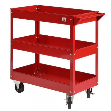 Werkplaatstrolley rood 79 x 38 x 79 cm