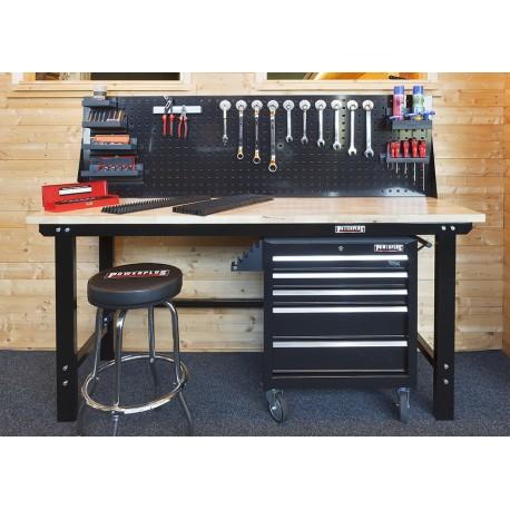 Werkplaatsinrichting, Complete werkplek - Werkbank Set zwart type 5