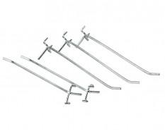 Set van 5 lange haken voor werkplaatskast