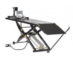 Motorheftafel pneumatisch met inrijklem - Heftafel motorfiets - heftafel motor in de kleur zwart