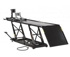 Heftafel voor motor pneumatisch en hydraulisch - heftafel motorfiets zwart met inrijklem