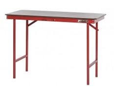Inklapbare werkbank 120 cm met houten werkblad - rood