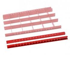Set van 2 houders voor stalen vakverdelingsysteem - rood