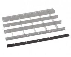 Metalen vakverdeling strip lang - zwart