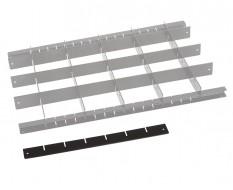 Metalen vakverdeling strip kort - zwart