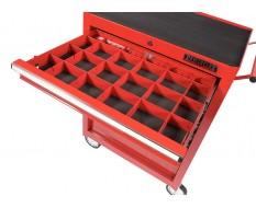 Set stalen vakverdelingsysteem - rood