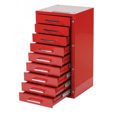 Gereedschapskast / ladenblok 31,5 x 30 x 61 cm rood
