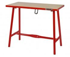 Inklapbare werkbank 120 cm met houten werkblad -rood