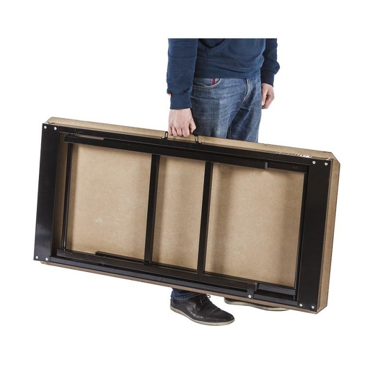 inklapbare werkbank 120 cm met houten werkblad zwart powerplustools. Black Bedroom Furniture Sets. Home Design Ideas