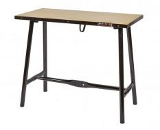 Inklapbare werkbank 120 cm met houten werkblad - zwart