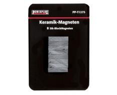 Set van 8 stuks blokmagneten 21 mm lang / keramische Ferriet magneten