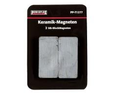 Set van 2 stuks blokmagneten 47 mm lang / keramische Ferriet magneten
