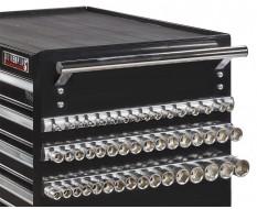 """Set van 3 magnetische houders voor totaal 48 doppen / doppenrail voor 1/4"""" / 3/8"""" en 1/2"""" doppen / doppenhouder"""