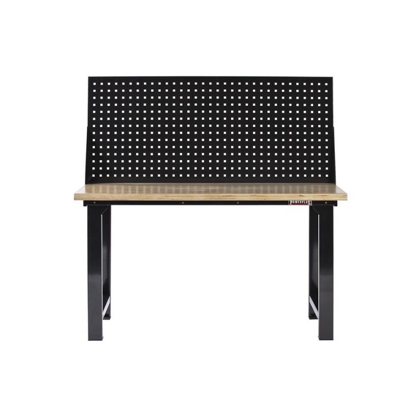 werkbank hout zwart 152 cm met gereedschapsbord. Black Bedroom Furniture Sets. Home Design Ideas