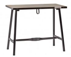 Inklapbare werkbank zwart 100 cm met houten werkblad