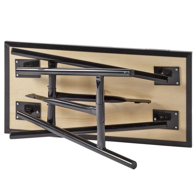 Inklapbare werkbank zwart 100 cm met houten werkblad   Powerplustools