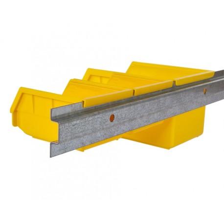 Metalen strip 100 cm voor wandmontage