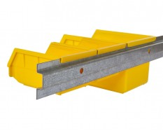 Metalen strip 200 cm voor wandmontage