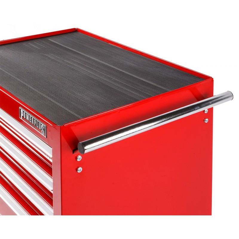 werkbank rood 120 cm met hardhouten blad en gereedschapswagen powerplustools. Black Bedroom Furniture Sets. Home Design Ideas