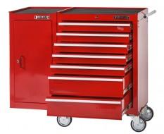 Gereedschapswagen 7 laden + gereedschapskast - rood