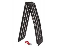 Aluminium oprijplaat 275 cm extra sterk extra breed en inklapbaar - zwart